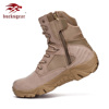 Bucksgear Custom Made New Waterproof Canvas Tactical Desert Military Officers Shoes Army Style Boots