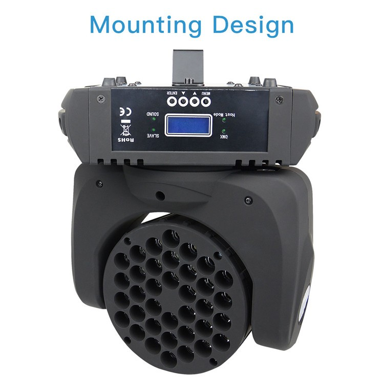 Big Dipper brand  36 LED *3 W RGBW  Stage Led Light Moving Head Light LM108 for Party Wedding Disco Performance Bar Event Dance