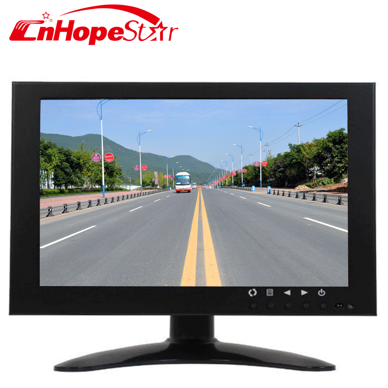 Wide viewing angle 7 inch widescreen lcd screen cctv monitor