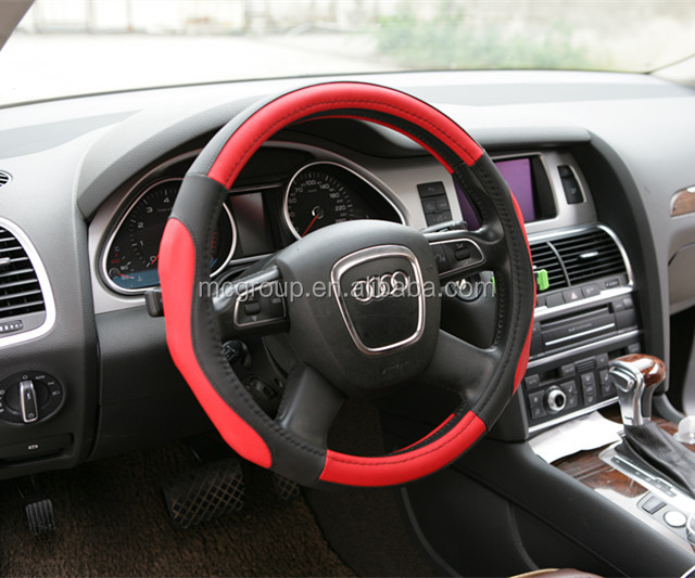 car PVC leather steering wheel cover