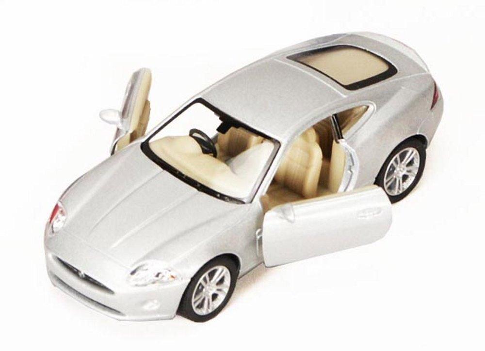 Jaguar XK Coupe, Silver - Kinsmart 5321D - 1/38 scale Diecast Model Toy Car