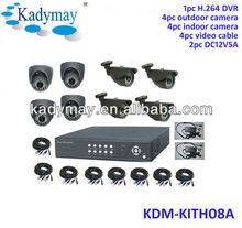 Cheap DIY 8CH H.264 CCTV camera security dvr kit,standalone network h.264 8 channel dvr kits