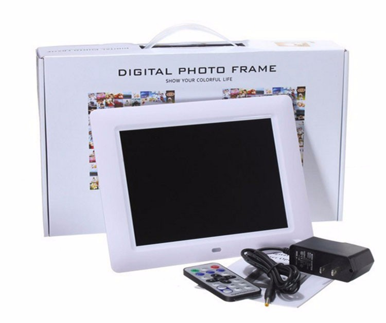 8 Polegada LCD Digital Photo Frame HD Multi-funcional Embutido MP3 Player