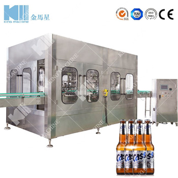 factory direct sale 750ml glass bottle crown cap beer bottling machine