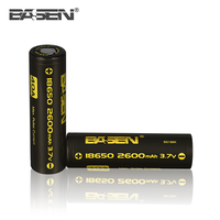 Basen 18650 battery 18650 3.7v 2600mAh 40A lithium ion rechargeable battery 18650/26650/18350/18500