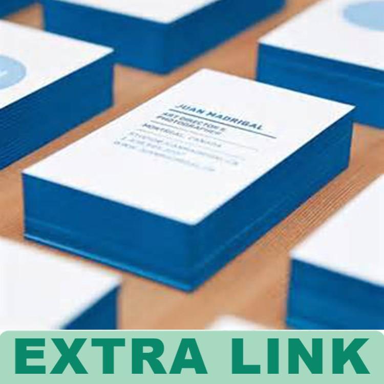 Carte De Visite Type Produit Typographie Gaufrage Couleur Bord Papier D