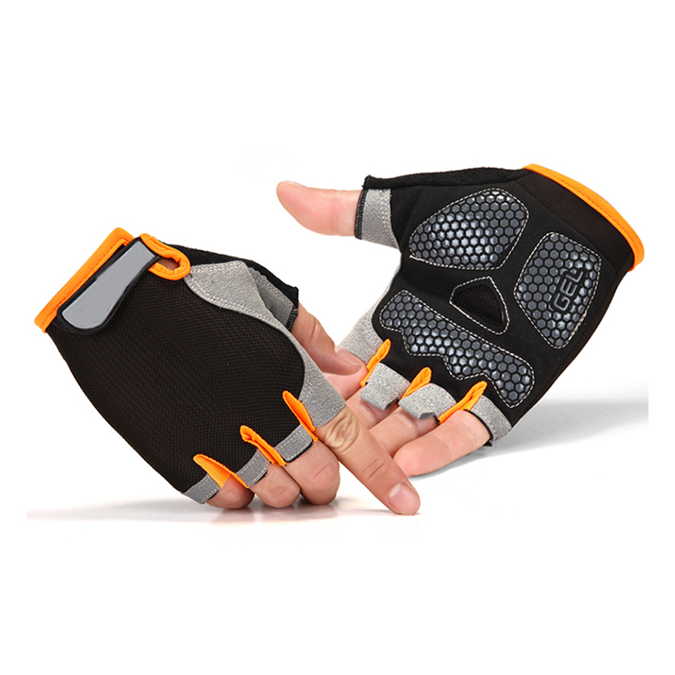 China Manufacturer Top Quality Luxury Silicon Printing Palm Cycling Gloves