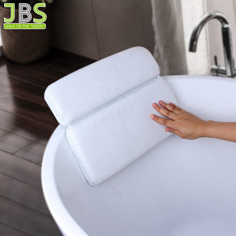 Anti-Bacterial Two Panel Spa Bath Pillow With Strong Suction Cup