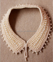 Fashion Imitation Pearl Costume Jewelry Statement Necklace Pearl Beaded Collar Necklace Fake Collar Necklace