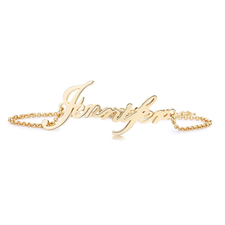 Stan-Deed Custom Name Bracelet Personalized Women Bracelet Customize Charm Initial Link Bracelet