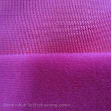 Super Tricot Brushed Fabric / 100 Polyester Clinquant Velvet for sofa , School Uniform , Sportswear , Car Seat Cover