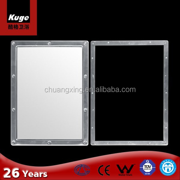 KUGE hotel stainless steel bathroom wall mirror for sale