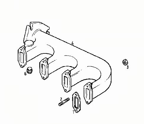 Deutz F4l912 Exhaust Manifold 02238668