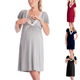 Office wear working breastfeeding wrap front nursing dress Maternity Clothes Night Wear for Women