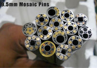 "Brass, Copper, Stainless Steel Lanyard Mosaic Pins 9.5mm (3/8"")"