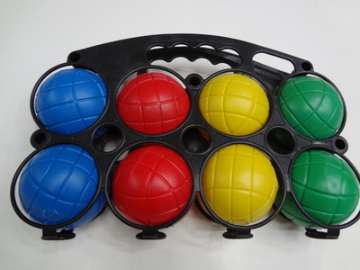 Beach// Lawn Game 4 Player Economy Bocce Ball Set With Carry Case
