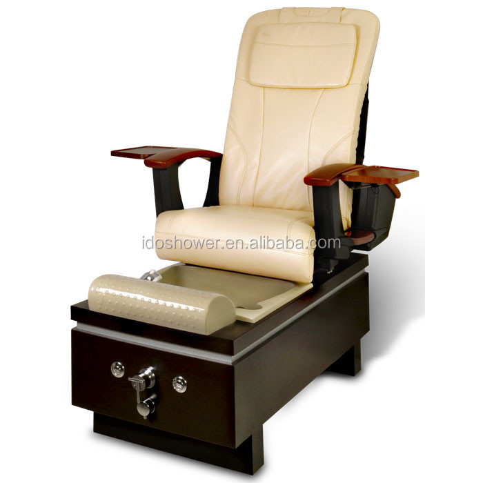 Unique and luxury style wooden base foot massage sofa spa for Nail salon equipment and furniture