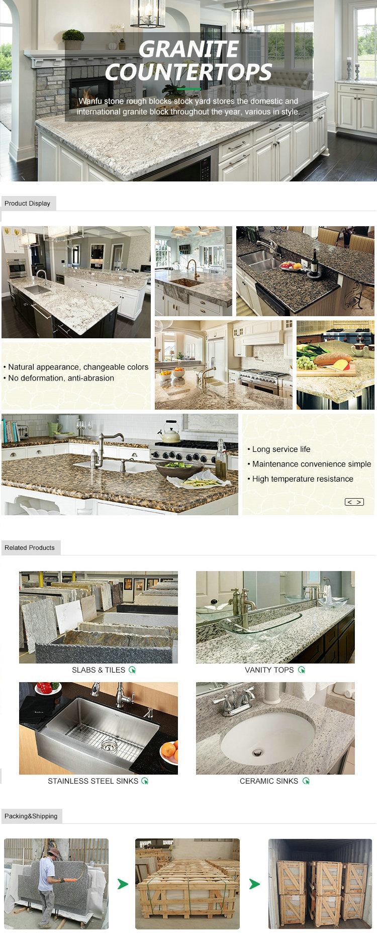 Pietra di granito Della Cucina Isola Abbigliamento Top Bianco di Pelle di Tigre