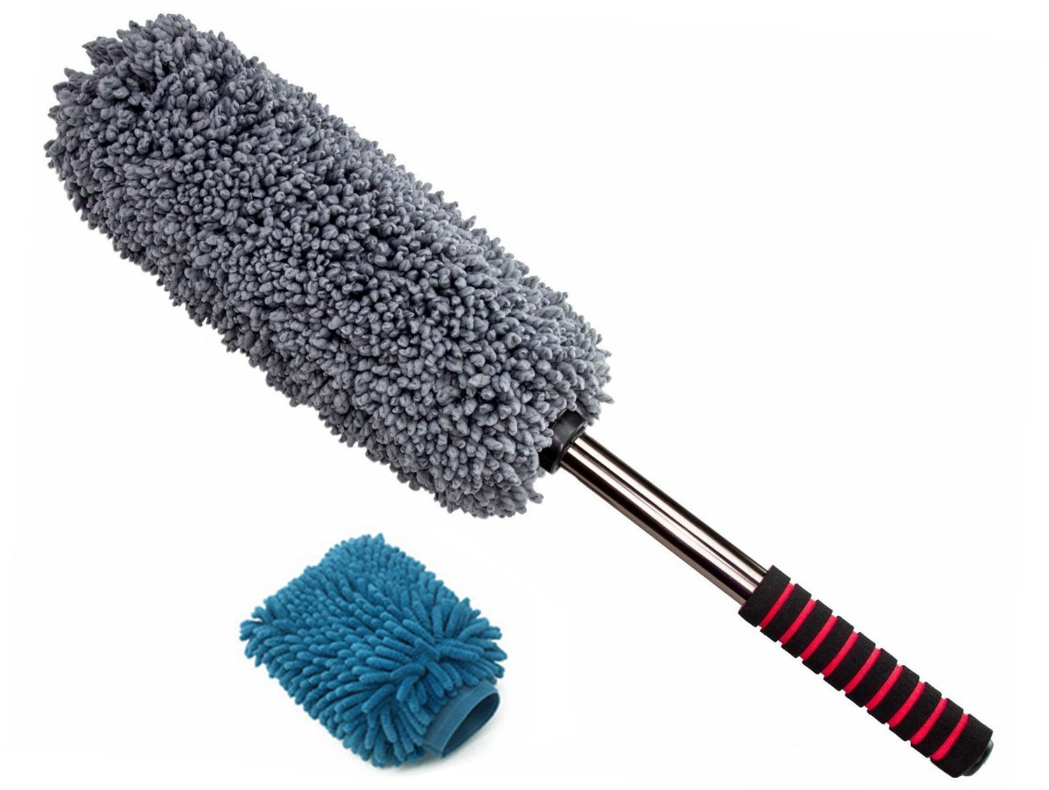 Upgrade Ultimate Car Duster - Microfiber Duster - Strong Decontamination Own Wax - Lint - Unbreakable Extendable Soft Handle