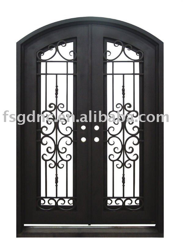 Puerta exterior de hierro forjado puertas identificaci n - Puertas de hierro para exterior ...