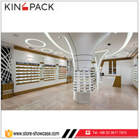 Simple style eyeglasses store furniture wall optical display rods
