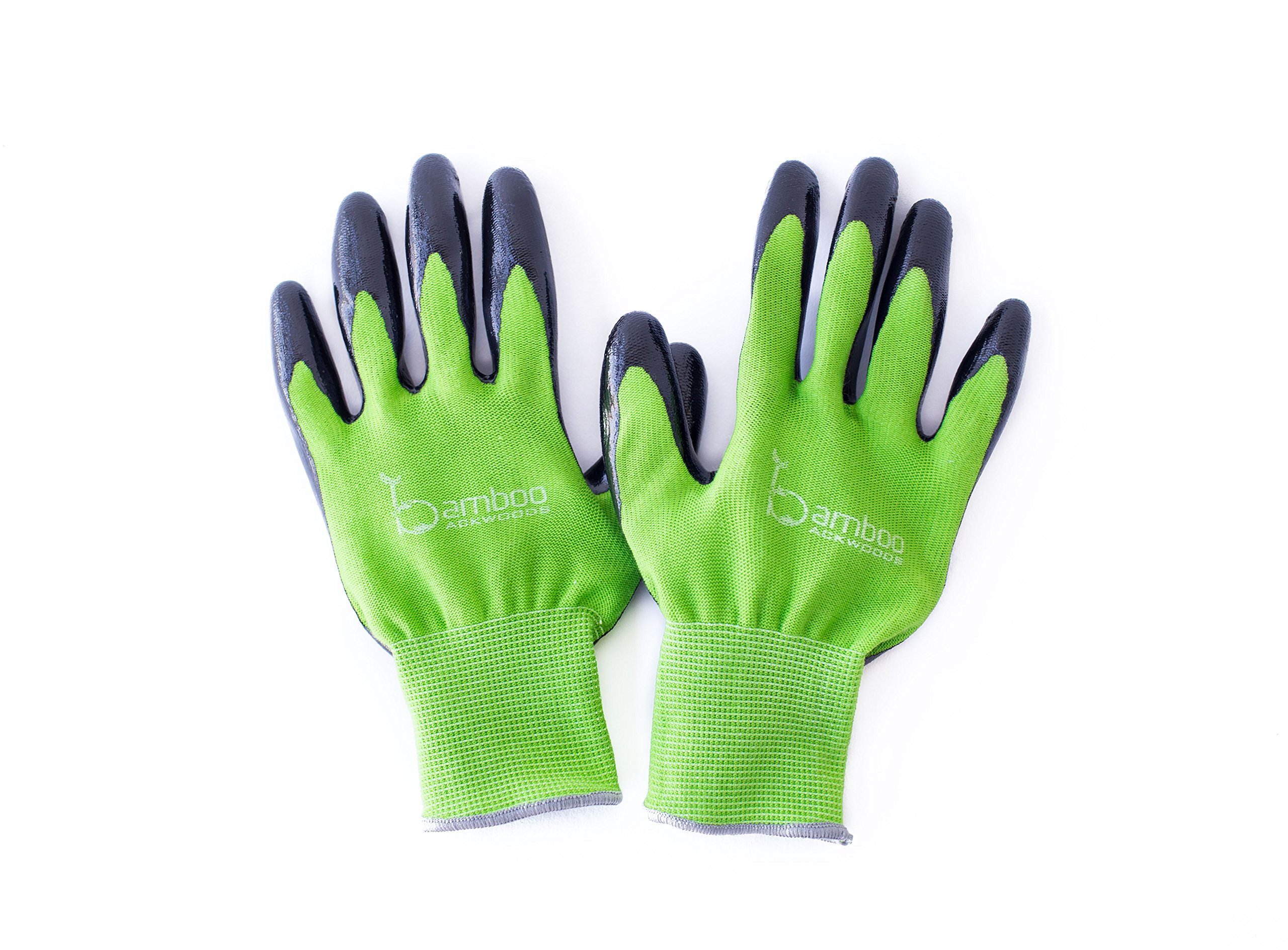 Get Quotations · Bamboo Garden U0026 House Work Gloves100% Eco Friendly Highly  Durable W/ Special Double