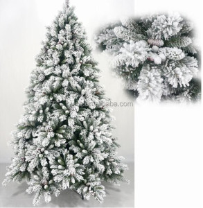 2016 Flocked Christmas Tree Wholesale Inflatable Christmas Tree With Led Inside
