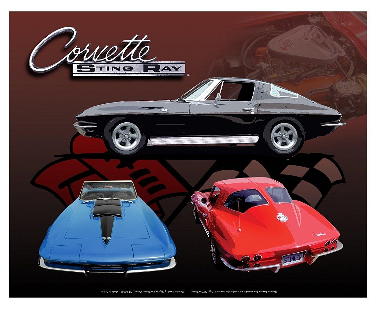 C5 Corvette Metal Sign 32x15 inches