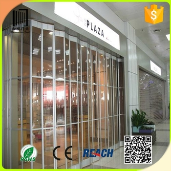 Beau Shop Front Folding Doors/Commercial Vertical Sliding Door /Airport  Transparent Polycarbonate Folding Door