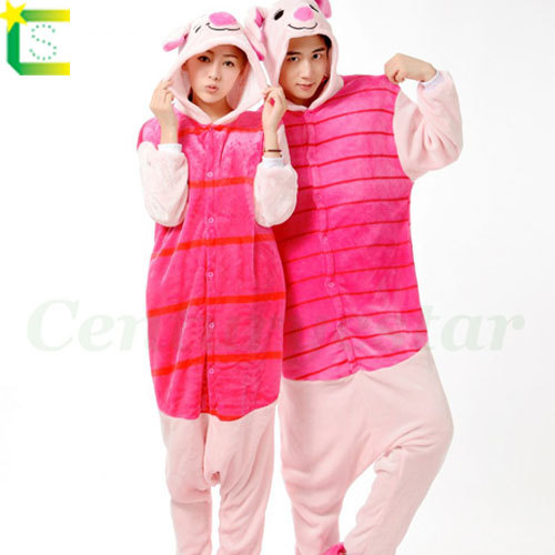 Adults animal onesie Cosplay halloween Costumes for women men piglet party dresses