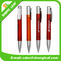 Red pens with silver parts translucent pens