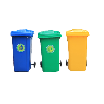 Outdoor plastic trash can waste trolley OEM recycle bin with wheels