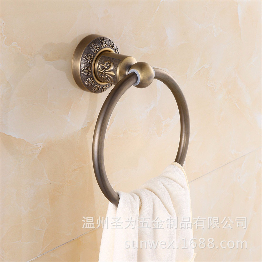 LAONA European style antique bronze carving, zinc alloy bathroom fittings, towel bar, toilet paper rack,Towel ring