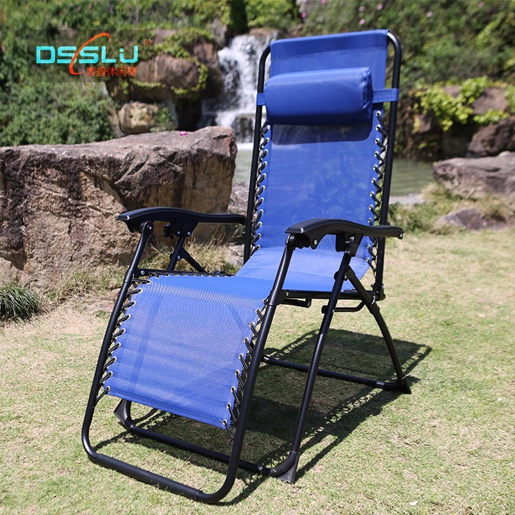 Teslin Fabric Zero Gravity Folding Beach Chair For Sale