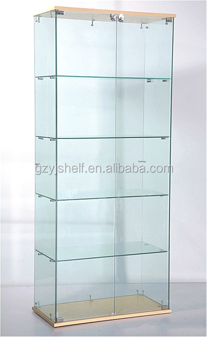 Modern Style Wine Glass Display Cabinetlockable Glass Display