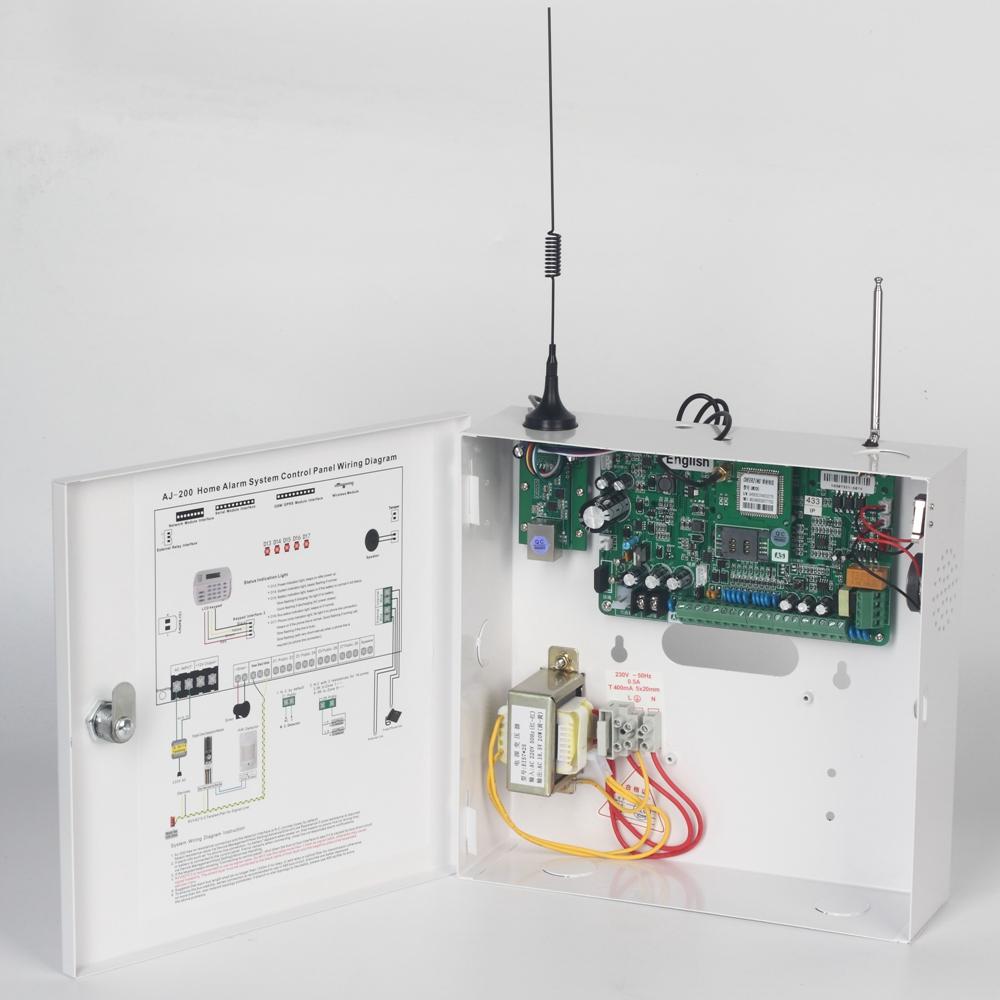 16 Zones Wired Project Remote Control Gsm Gprs Tcp Ip Intelligent Burglar Alarm System Circuit Diagram Using