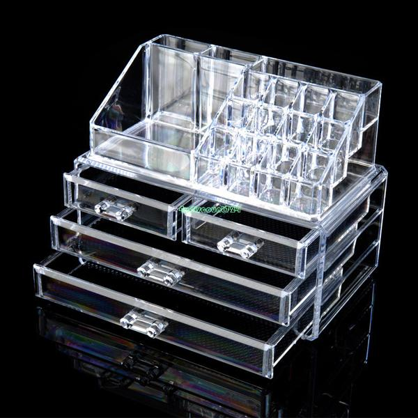 2019 Wholesale 4 Drawers Cosmetic Organizer Clear Acrylic