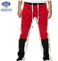 Joint and split long sweat pants for men winter warm and comfortable long pants