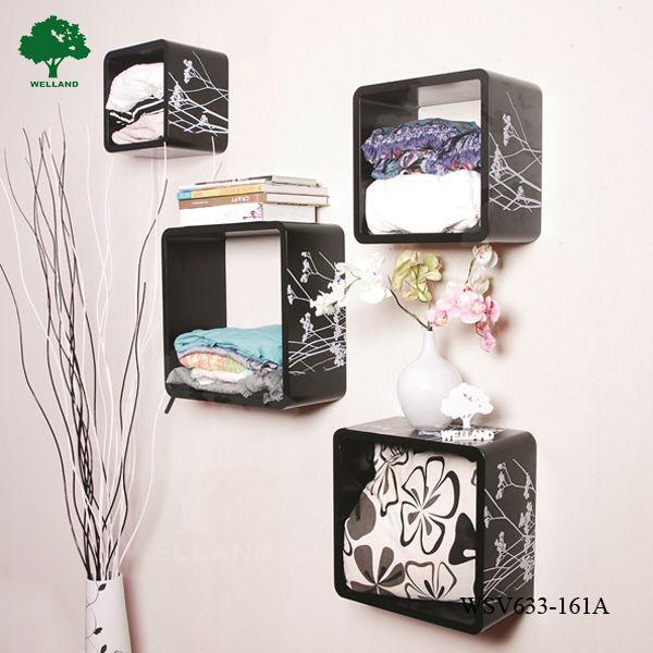 cubo mensola di legno decorazione della parete - buy product on