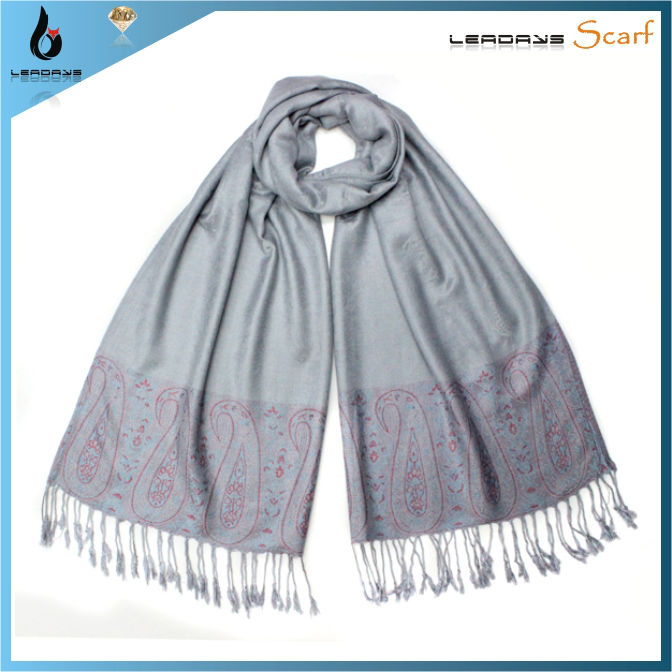 fashion lady tassel pattern pashmina shawl nepal