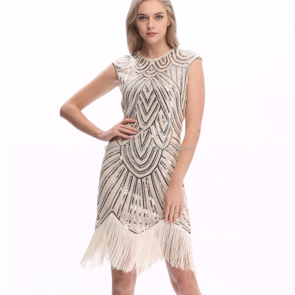 Bestdance Damen 1920 S 20 S Party Kleid Flapper Kostüm Charleston ...