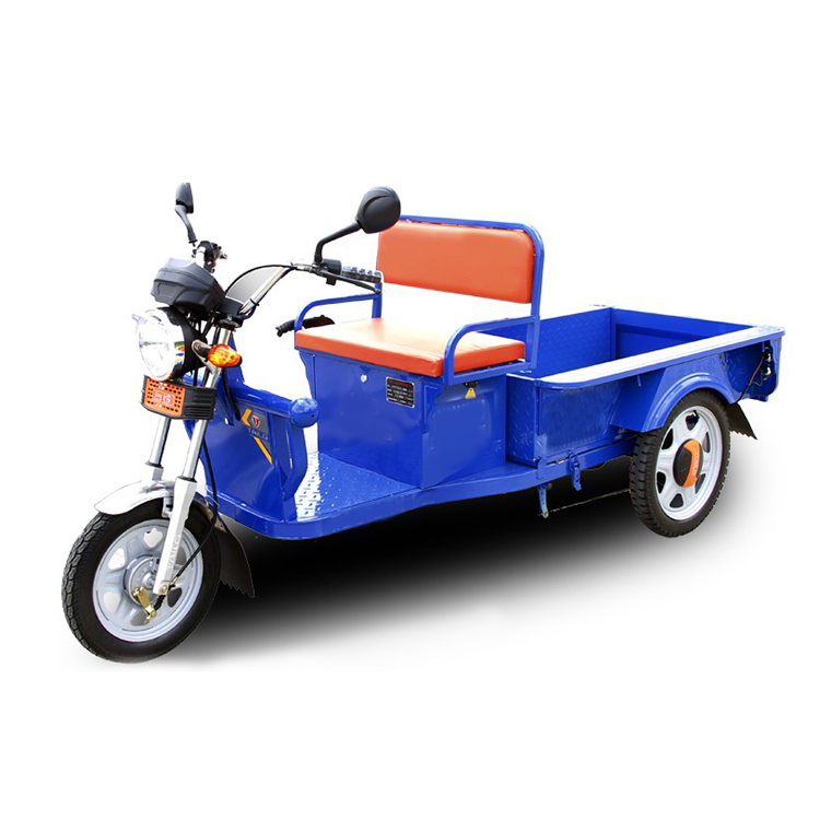 Tricycle électrique de fret de transport 60V alimenté par batterie