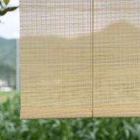 china waterproof green bamboo blind curtain shades