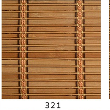 Green Bamboo Roll Up Blinds