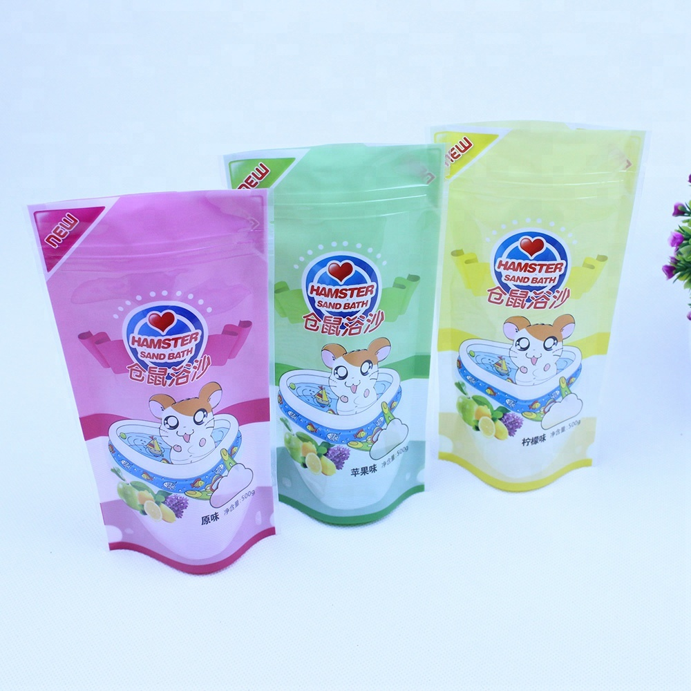 Custom label printed plastic stand up seed packaging bag with ziplock