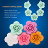 2016 Wholesale Silicone BPA Free Baby Teething Handmade Flower Necklace