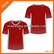 Simple red style brand heat high class sport T-shirt