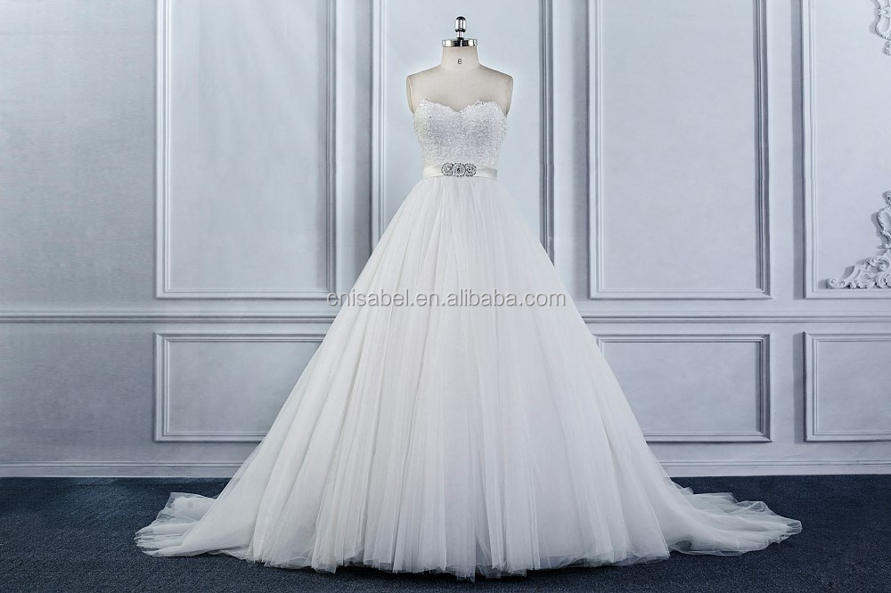 Tw16036 Off Shoulder Big Modified White A Line Crystal Diamond ...
