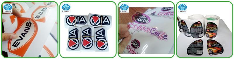 Design sticker custom pvc clear epoxy 3d vinyl sticker dome sticker label die cut