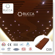 2016 Rucca WPC ceiling, wood plastic composite ceiling decorative panels, PVC ceiling 80*25mm building decoration